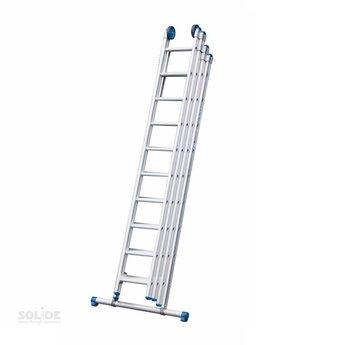 Solide 4-delige ladder 4 x 9