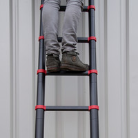 Panthera Telescoopladder Black/Red 3,8 meter