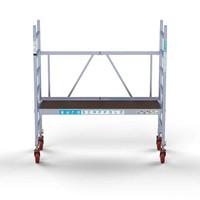 Euroscaffold Kamersteiger werkhoogte 3 meter met verstelbare wielen