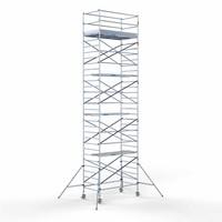 Euroscaffold MEGA DEAL! Steigeraanhanger +  Rolsteiger 135 x 250 x 10,2 meter werkhoogte