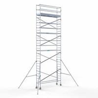 Euroscaffold Steigeraanhanger + Rolsteiger Compleet 75 x 305 x 10,2 meter werkhoogte