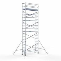 Euroscaffold Steigeraanhanger + Rolsteiger Compleet 90 x 305 x 10,2 meter werkhoogte