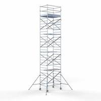 Euroscaffold Steigeraanhanger + Rolsteiger Compleet 135 x 190 x 10,2 meter werkhoogte