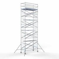 Euroscaffold Steigeraanhanger + Rolsteiger Compleet 135 x 305 x 10,2 meter werkhoogte