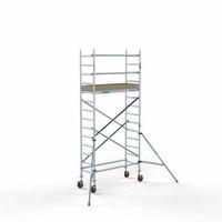 Euroscaffold Afsluitbare Steigeraanhanger +  Basis Rolsteiger 75 x 190 x 5,2 meter