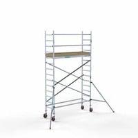 Euroscaffold Afsluitbare Steigeraanhanger +  Basis Rolsteiger 75 x 250 x 5,2 meter