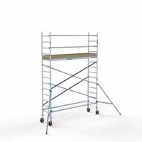Euroscaffold Afsluitbare steigeraanhanger +  Basis Rolsteiger 75 x 305 x 5,2 meter