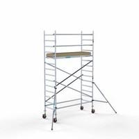Euroscaffold Afsluitbare Steigeraanhanger +  Basis Rolsteiger 90 x 250 x 5,2 meter