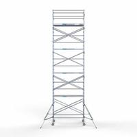 Euroscaffold Steigeraanhanger afsluitbaar 250 + rolsteiger Compleet 135x250 10,2 meter werkhoogte