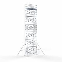 Euroscaffold Steigeraanhanger + Rolsteiger Compleet 135 x 305 x 14,2 meter werkhoogte