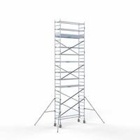 Euroscaffold Steigeraanhanger + Rolsteiger Compleet 75 x 250 x 9,2 meter werkhoogte