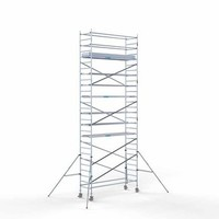 Euroscaffold Steigeraanhanger + Rolsteiger Compleet 90 x 305 x 9,2 meter werkhoogte