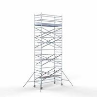 Euroscaffold Steigeraanhanger + Rolsteiger Compleet 135 x 305 x 9,2 meter werkhoogte