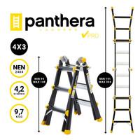 Panthera Multiladder 4x3 Zwart