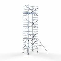 Euroscaffold Steigeraanhanger 250 + Rolsteiger Voorloopleuning Enkel 135 x 250 x 8,2 meter