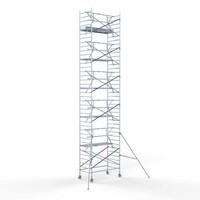 Euroscaffold Steigeraanhanger 305 + Rolsteiger Voorloopleuning Enkel 135 x 305 x 12,2 meter