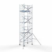 Euroscaffold Steigeraanhanger 305 + Rolsteiger Voorloopleuning Enkel 135 x 305 x 8,2 meter