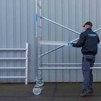 Euroscaffold Rolsteiger Compleet 135 x 250 x 12,2m werkhoogte met lichtgewicht platform