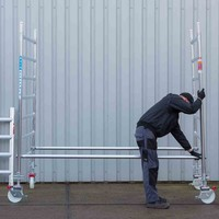 Euroscaffold Rolsteiger Compleet 135 x 190 x 4,2m werkhoogte incl. dubbele voorloopleuning