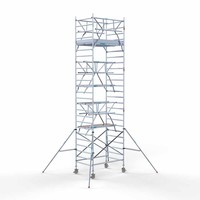Euroscaffold Rolsteiger Compleet 135 x 190 x 8,2m werkhoogte incl. dubbele voorloopleuning