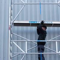 Euroscaffold Rolsteiger Compleet 135 x 190 x 11,2m incl. lichtgewicht platform + dubbele voorloopleuning