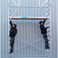 Euroscaffold Rolsteiger Compleet 135 x 190 x 12,2m werkhoogte incl. dubbele voorloopleuning