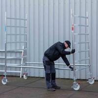 Euroscaffold Rolsteiger Compleet 135 x 250 x 5,2m werkhoogte incl. dubbele voorloopleuning