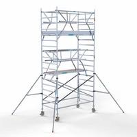 Euroscaffold Rolsteiger Compleet 135 x 250 x 6,2m werkhoogte incl. dubbele voorloopleuning