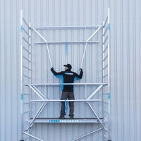 Euroscaffold Rolsteiger Compleet 135 x 250 x 7,2m werkhoogte incl. dubbele voorloopleuning