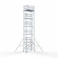 Euroscaffold Rolsteiger Voorloopleuning Dubbel 135 x 250 x 12,2 meter werkhoogte