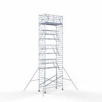 Euroscaffold Rolsteiger Compleet 135 x 305 x 11,2m werkhoogte incl. dubbele voorloopleuning