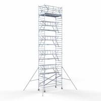 Euroscaffold Rolsteiger Voorloopleuning Dubbel 135 x 305 x 12,2 meter werkhoogte