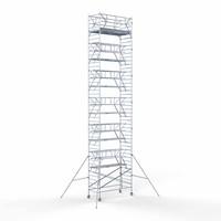 Euroscaffold Rolsteiger Compleet 135 x 305 x 14,2m werkhoogte incl. dubbele voorloopleuning
