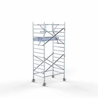 Euroscaffold Rolsteiger Compleet met enkele voorloopleuning 135 x 190 x 5,2 meter werkhoogte