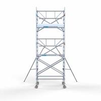 Euroscaffold Rolsteiger Compleet met enkele voorloopleuning 135 x 190 x 6,2 m werkhoogte