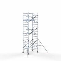 Euroscaffold Rolsteiger Compleet met enkele voorloopleuning 135 x 190 x 7,2 meter werkhoogte