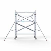 Euroscaffold Rolsteiger Compleet met enkele voorloopleuning 135 x 250 x 4,2 meter werkhoogte