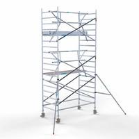 Euroscaffold Rolsteiger Compleet met enkele voorloopleuning 135 x 250 x 6,2m werkhoogte