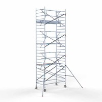 Euroscaffold Rolsteiger Compleet  135 x 250 x 8,2m werkhoogte + enkele voorloopleuning