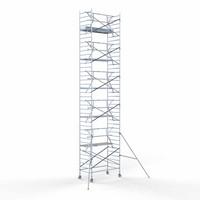 Euroscaffold Rolsteiger Compleet  135 x 250 x 12,2m werkhoogte + enkele voorloopleuning