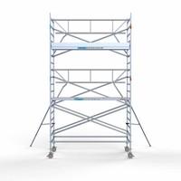 Euroscaffold Rolsteiger Compleet met enkele voorloopleuning 135 x 305 x 6,2 m werkhoogte