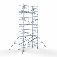 Euroscaffold Rolsteiger Compleet  135 x 305 x 8,2m werkhoogte + enkele voorloopleuning