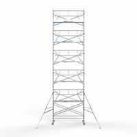Euroscaffold Rolsteiger Compleet  135 x 305 x 12,2m werkhoogte + enkele voorloopleuning