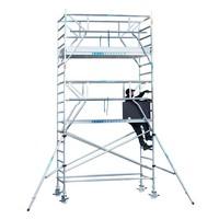 Euroscaffold Rolsteiger Compleet 75 x 190 x 6,2m werkhoogte incl. dubbele voorloopleuning
