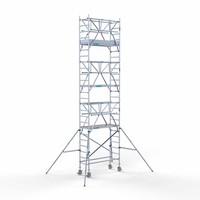 Euroscaffold Rolsteiger Compleet 75 x 190 x 8,2m werkhoogte incl. dubbele voorloopleuning