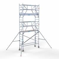Euroscaffold Rolsteiger Compleet 75 x 250 x 6,2m werkhoogte incl. dubbele voorloopleuning