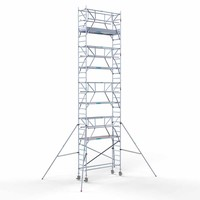 Euroscaffold Rolsteiger Compleet 75 x 250 x 10,2m werkhoogte incl. dubbele voorloopleuning