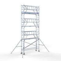 Euroscaffold Rolsteiger Compleet 75 x 305 x 8,2m werkhoogte incl. dubbele voorloopleuning