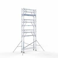 Euroscaffold Rolsteiger Compleet 75 x 305 x 9,2m werkhoogte incl. dubbele voorloopleuning