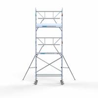 Euroscaffold Rolsteiger Compleet  75 x 190 x 6,2m werkhoogte + enkele voorloopleuning